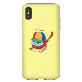 iPhone Xs Max  Happy Copter by Xylo Riescent (Robo Rat,chopper,helicopter,kids,funny,yellow,cool,awesome)