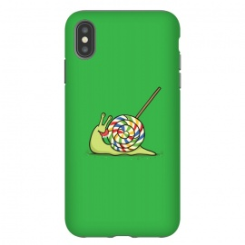 iPhone Xs Max  Home Sweet Home by Xylo Riescent (Robo Rat,snail,home,house,lollipop,candy,green,funny,kids,cool)