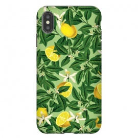 iPhone Xs Max  Lemonade V2 by Uma Prabhakar Gokhale (graphic, acrylic, other, pattern, vector, botanical, lemon, lemons, fruit, food, citrus, exotic, floral, nature)