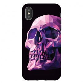 iPhone Xs Max  Skull by Roland Banrévi (vector,poly,low poly, polygon,skull,dark,scary,magenta,color)