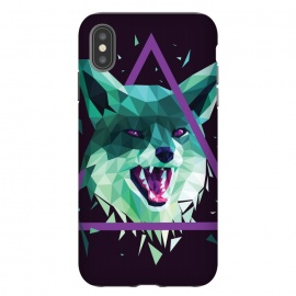 iPhone Xs Max  Fox by Roland Banrévi (fox,animal,animals,poly,low poly,polygon)