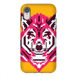 iPhone Xr  Geometric wolf by  (wolf,animal,animals,geometry,magenta,vector,portrait)