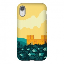 iPhone Xr  Golden castle by  (city,castle,sky,sunset,clouds,buildings,vector)