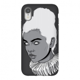 iPhone Xr  Gray lady by Roland Banrévi (collar,woman,girl,portrait,beauty)