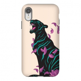 iPhone Xr  Black tiger by  (tiger,lotus,flower,animal,animals)