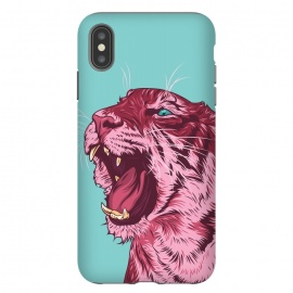 iPhone Xs Max  Magenta tiger by Roland Banrévi (tiger,animal,animals,big cat)