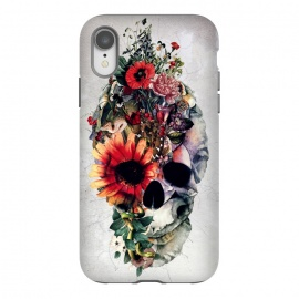 iPhone Xr  Two Face Skull by Riza Peker (Skull,Flowers,animals,snake,tattoo,art,rizapeker)