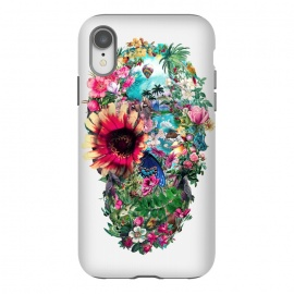 iPhone Xr  Summer Skull II by Riza Peker (skull,art,birds,butterflies,digital,design,rizapeker)