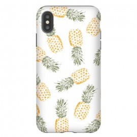 iPhone Xs Max  Pineapples  by Rui Faria (Pineapple,Pineapples,fruit,pattern,ink,paint,summer,spring,fashion,color,colorfull,fresh,design)