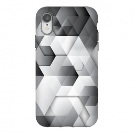 iPhone Xr  Black Geometrics  by  (geometric,pattern,shapes,black and white,minimal,clean)