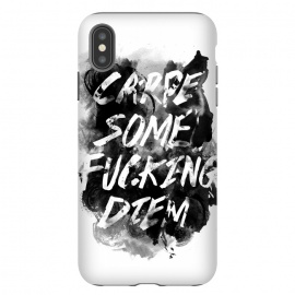 iPhone Xs Max  Carpe Diem by Rui Faria (carpe diem,type,typography,ink,paint,watercolor,black and white)