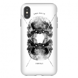 iPhone Xs Max  Two Faced People by Rui Faria (skull,type,typography,design)