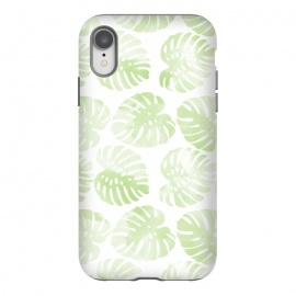 iPhone Xr  monsteras by  (pattern,monstera,ink,paint,monstera deliciosa,tropical,summer)