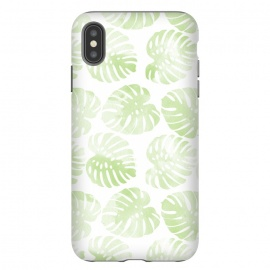 iPhone Xs Max  monsteras by Rui Faria (pattern,monstera,ink,paint,monstera deliciosa,tropical,summer)