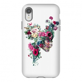 iPhone Xr  Skull VII by Riza Peker (skull,flowers,baroque,surreal,art,rizapeker)