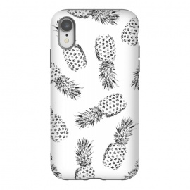 iPhone Xr  Pineapples black and white by Rui Faria