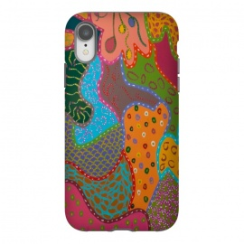 iPhone Xr  Cheerful Pattern by  (fun modern)