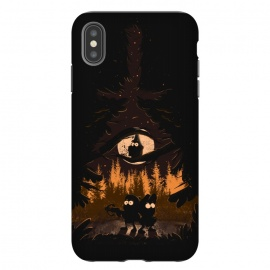 iPhone Xs Max  A summer of mysteries by Ilustrata (gravity falls,Dipper,mable,forest,nature,disney)