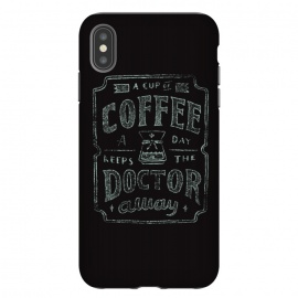 iPhone Xs Max  Keeps The Doctor Away by Tatak Waskitho (coffee)
