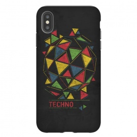 iPhone Xs Max  Techno by Sitchko Igor (Techno,music,geometry,triangles,acid,tech,electronic,colorful,lsd,dj,deejay)