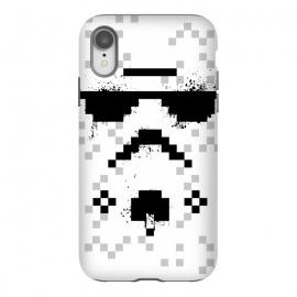 iPhone Xr  8-bit Trooper - Black by  (Trooper,soldier,star wars,planet,movie,8 bit,geometry)