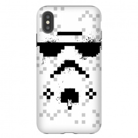 iPhone Xs Max  8-bit Trooper - Black by Sitchko Igor (Trooper,soldier,star wars,planet,movie,8 bit,geometry)