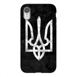 iPhone Xr  Ukraine Black Grunge by Sitchko Igor (Ukraine,trident,black,grunge,UA,ukrainian,symbol,nation,national,freedom,volia,patriot,human,kyiv,kiev,ethno,Україна,герб,тризуб,Dorn,Дорн,дорна,симбол,воля,свобода)