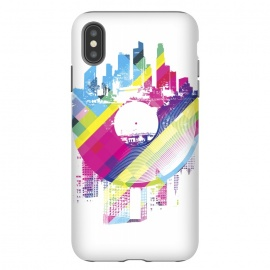 iPhone Xs Max  Urban Vinyl Colorful by Sitchko Igor (Vinyl,Turntable,city,town,urban,modern,colorful,DJ,Deejay,techno,deep,house,dub,dubstep,DNB,sound,audio,club,clubber)