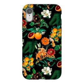 iPhone Xr  Fruit and Floral Pattern by  (fruit,floral,botanical,tropical,nature,garden,jungle,orange,leaf,flowers,flora)