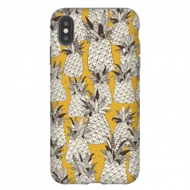 iPhone Xs Max  Pineapple Sunshine by Sharon Turner (pineapple,pattern,tropical,summer)