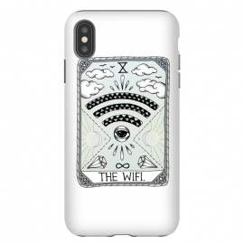 iPhone Xs Max  The Wifi by Barlena (Tarot, card, reading, wifi, funny, magical, spiritual, eye, diamonds, clouds, sun, moon, day, night, stars, magic)