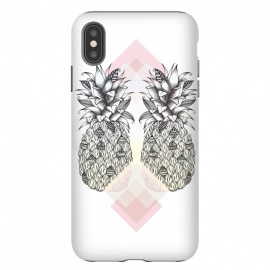 iPhone Xs Max  Tropical by Barlena (pineapple, tropical, two, summer, fruit, drawing)