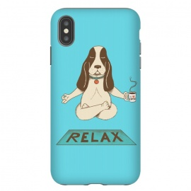 Dog Relax by Coffee Man (dog,yoga,pet,pet lover,coffee,funny,fun,cute,adorable,animal,relax,relaxing,animal lover)