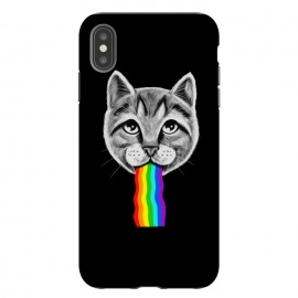 iPhone Xs Max  Cat rainbow by Coffee Man (cat,cats,rainbow,vomit,social media,funny,fun,cute,adorable,animal,pop culture,geek,nerd,pet,cat lover)