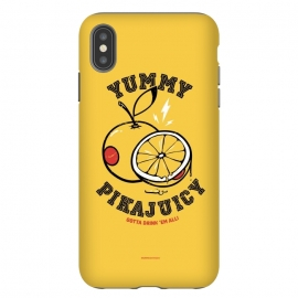 iPhone Xs Max  [ba dum tees] Pikajuicy by Draco (pikachu,anime,pokemon,orange,juice,fruit,animal)