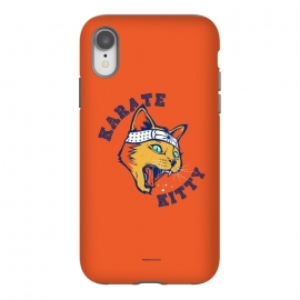 iPhone Xr  [ba dum tees] Karate Kitty by Draco (cat,kitty,kittie,karate,martial,ninja)
