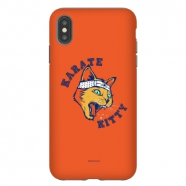 iPhone Xs Max  [ba dum tees] Karate Kitty by Draco (cat,kitty,kittie,karate,martial,ninja)