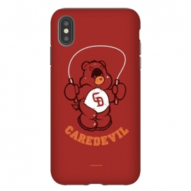 iPhone Xs Max  [ba dum tees] Caredevil by Draco (care,bear,carebear,dare,devil,daredevil,hero)