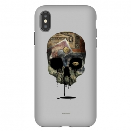 iPhone Xs Max  [Poektica] Society by Draco (skull, money,oil,coins)