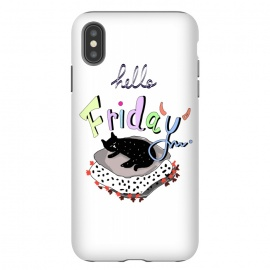 Hello Friday by MUKTA LATA BARUA (cats,hello,weekend,friday,fun,pop art,party,typo)