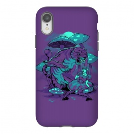 iPhone Xr  Cheshire Cat by  (alice,wonderland,tiger,cat,mushroom,night,fable)