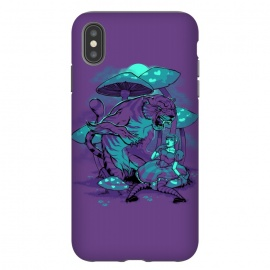 iPhone Xs Max  Cheshire Cat by Draco (alice,wonderland,tiger,cat,mushroom,night,fable)