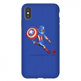 iPhone Xs Max  Kick-Off by Draco (hero,captain,america,red,skull,shield,marvel)