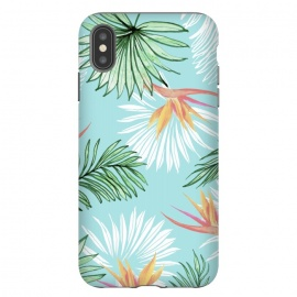 iPhone Xs Max  Tropic Palm by Uma Prabhakar Gokhale (graphic, watercolor, bird of paradise, palm, palm leaves, tropical, nature, exotic, floral, botanical)