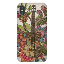 iPhone Xs Max  Ever guitar by Valentina Harper (guitar,flowers,colors)