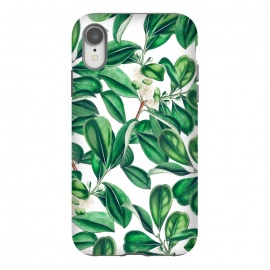 iPhone Xr  Botanica by Uma Prabhakar Gokhale (graphic, acrylic, botanical, nature, tropical, exotic, green, lush, leaves, floral)