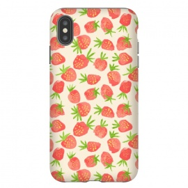Strawberry by Sarah Price Designs (fruit,strawberry,summer,watercolor,pattern)