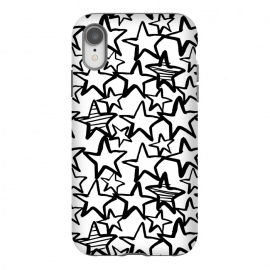 iPhone Xr  Black and white stars by Laura Grant (star,stars,black and white)