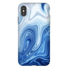 Blue Ocean by Martina (marble, blue, phone case,nature,sea,ocean,stylish,modern,abstract)