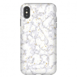 iPhone Xs Max  Simply Marble by Martina (marble, stone, modern, fashionable,stylish, unisex,classy,simple,clean,minimalist,gold,texture)